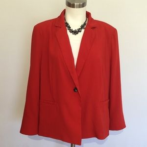 Skies Are Blue Blazer Petite Red Lined XXLP